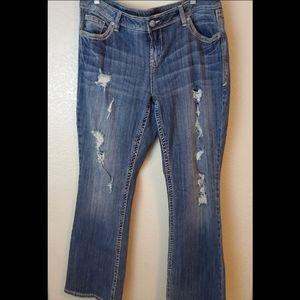 torrid Jeans - Torrid Relaxed Bootcut Distressed Denim Jeans